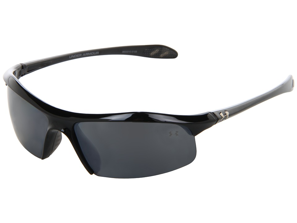 Under Armour - Zone Polarized (Shiny Black/Gray Polarized Multiflection) Athletic Performance Sport Sunglasses