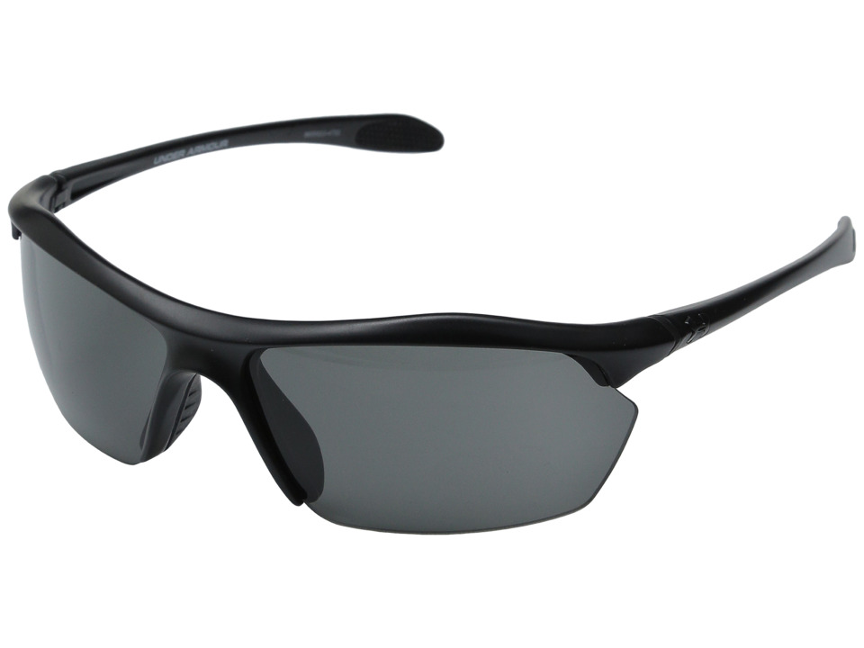 Under Armour - Zone XL (Satin Black/Gray) Athletic Performance Sport Sunglasses