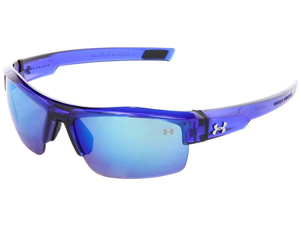 Under Armour - UA Igniter (Dark Crystal Blue/Gray Blue Multiflection) Athletic Performance Sport Sunglasses