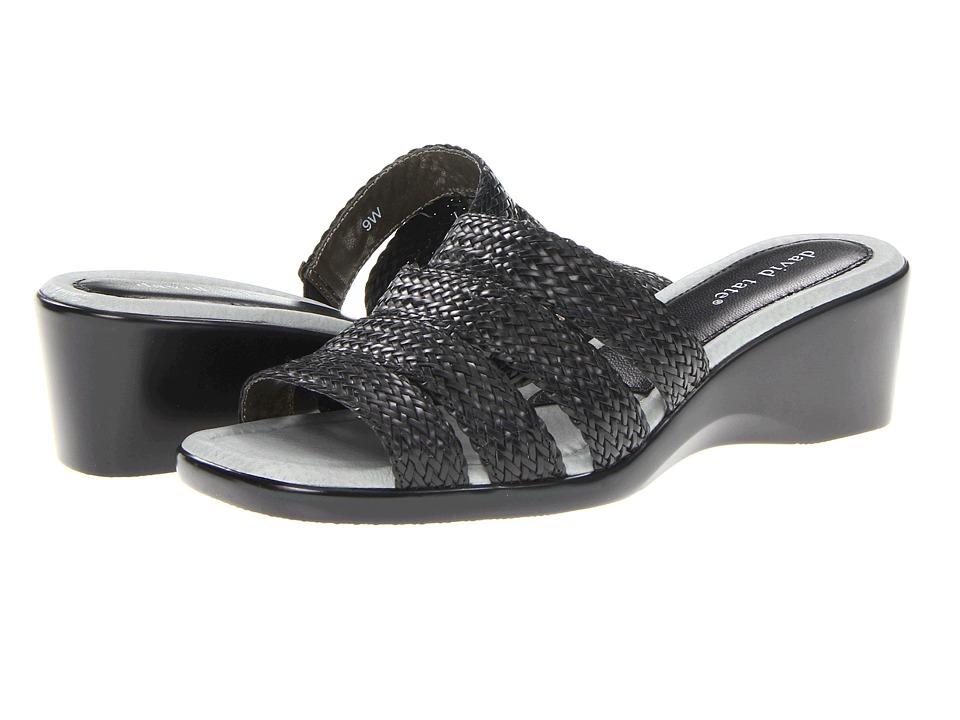 David Tate - Braidy (Black) Women's Wedge Shoes