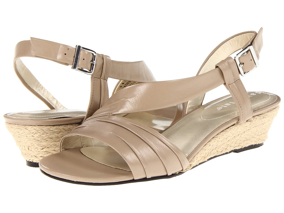 David Tate - Caress (Beige) Women's Wedge Shoes