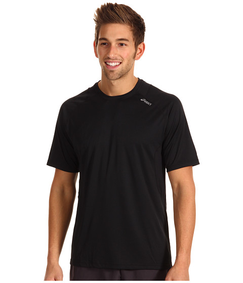 ASICS - Favorite Short Sleeve (Black) Men's Workout