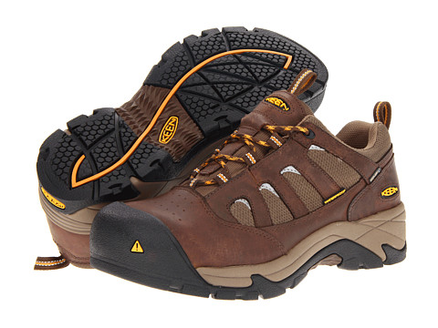 Keen Utility - Lexington (Dark Earth/Apricot) Men's Work Lace-up Boots