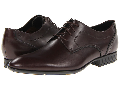Rockport - Dialed In Plain Toe (Dark Brown) Men