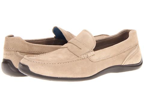 Rockport Drivesports Lite Penny Loafer (Rocksand Suede) Men's Slip on  Shoes