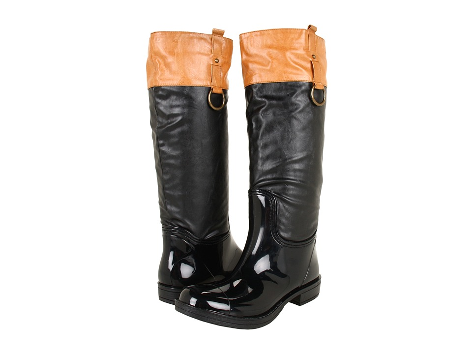 NOMAD - Moto (Black/Tan) Women's Pull-on Boots