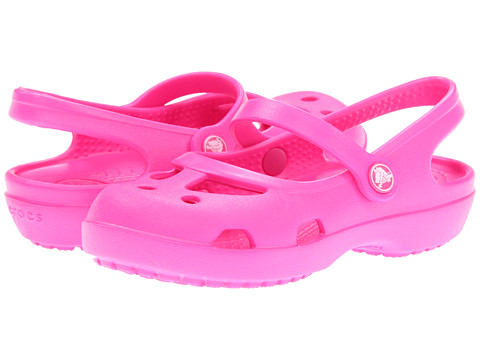 Crocs Kids - Shayna (Toddler/Little Kid) (Neon Magenta) Girls Shoes