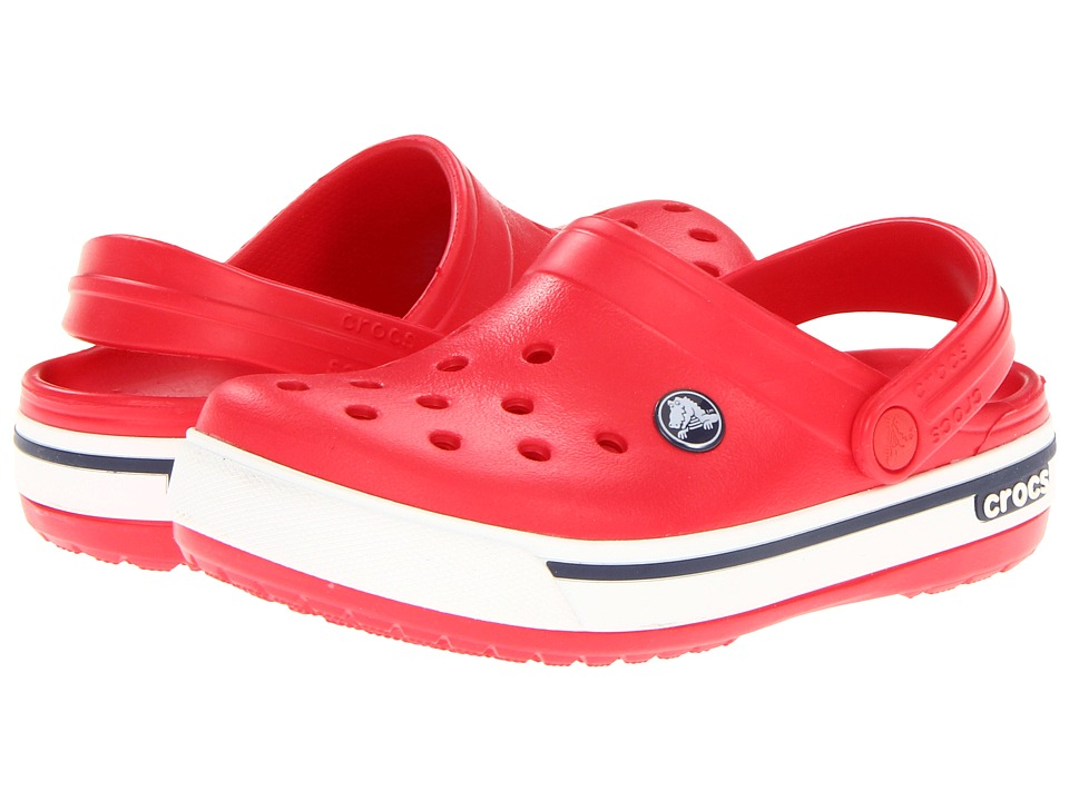 Crocs Kids - Crocband II.5 (Toddler/Little Kid) (Red/Navy) Kids Shoes