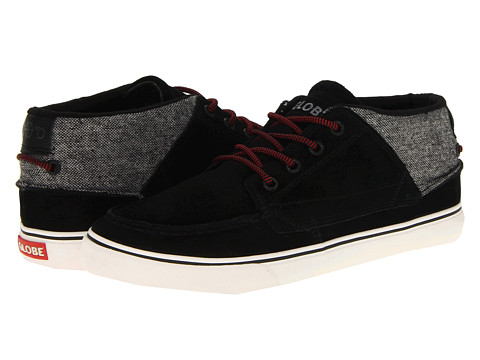 Globe - The Bender (Black/Tweed/Red) Men's Skate Shoes