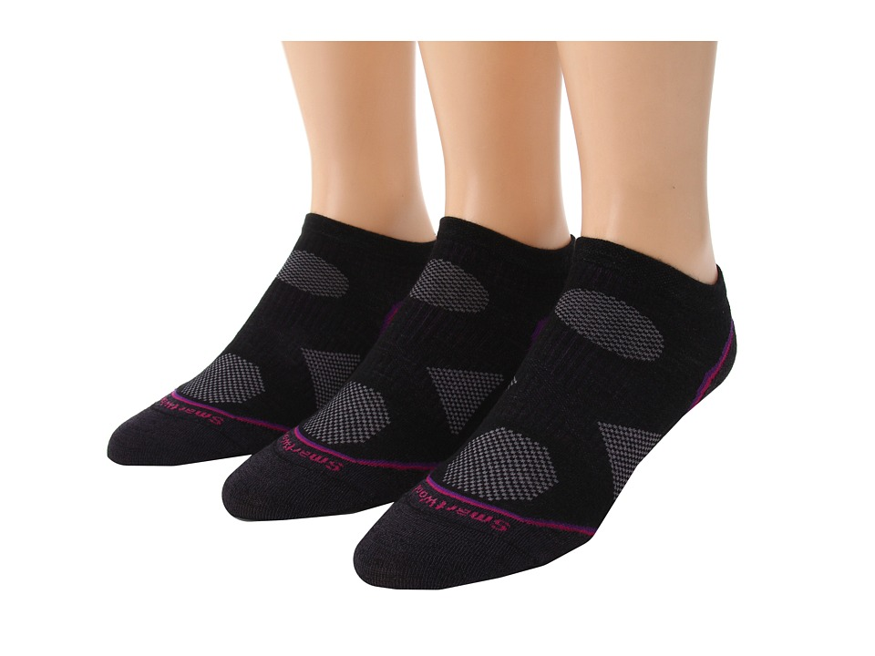 Smartwool - PhD Cycle Ultra Light Micro 3-Pack (Black1) Women's Low Cut Socks Shoes