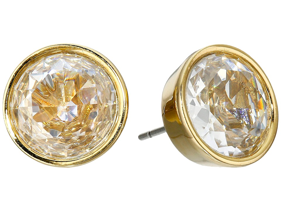 Michael Kors - Brilliance Crystal Earring Studs (Gold/Clear) Earring