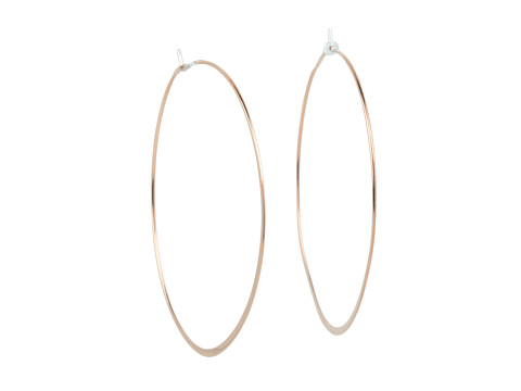 Michael Kors - Heritage Whisper Hoop Earrings (Rose Gold) Earring