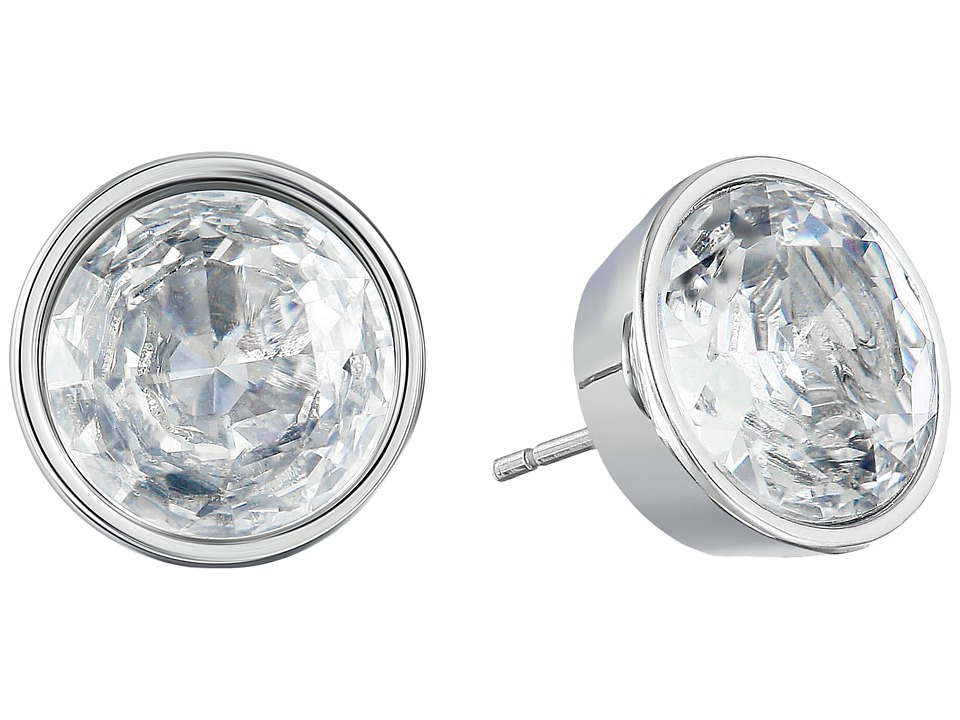 Michael Kors - Brilliance Crystal Earring Studs (Silver/Clear) Earring