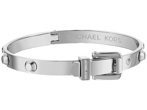 Michael Kors - Astor Buckle Bangle (Silver) Bracelet