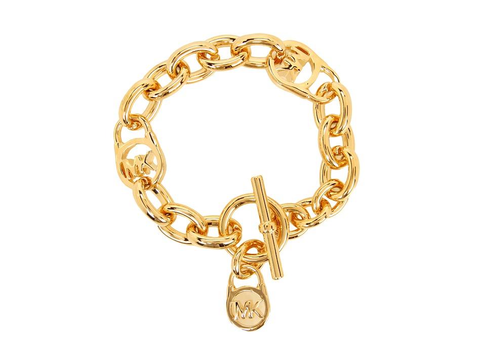 Michael Kors - Heritage Link with Padlock Bracelet (Gold) Bracelet