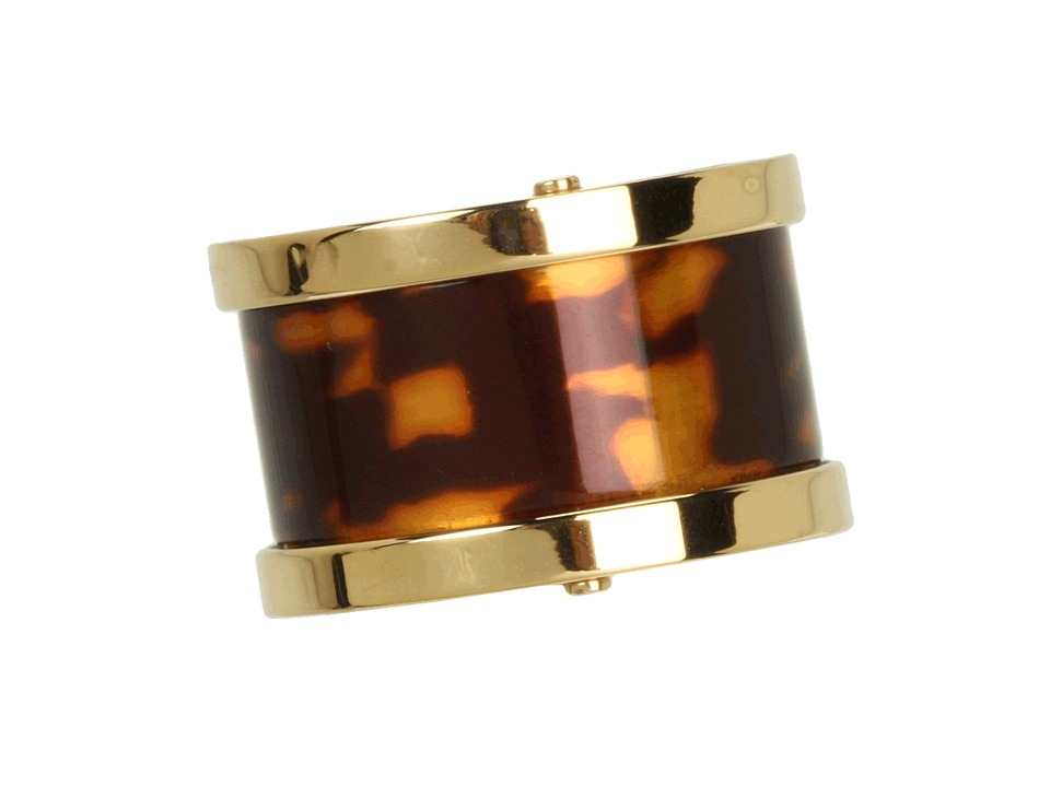 Michael Kors - Heritage Barrel Ring (Gold/Tortoise) Ring