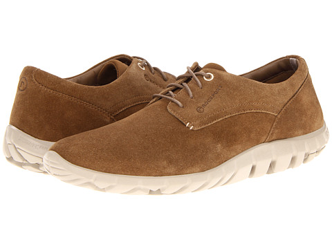 Rockport - truWALKzero Oxford (Dark Tan Suede/Cream) Men