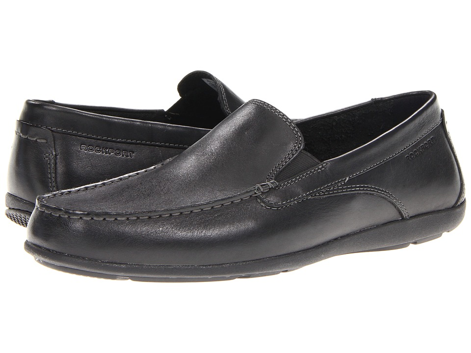 Rockport - Cape Noble 2 Venetian (Black) Men's Slip on Shoes