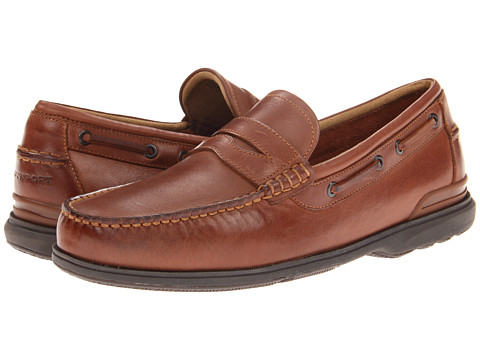 Rockport Off The Coast Penny Loafer (British Tan) Men's Slip on  Shoes