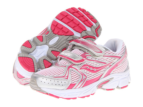 Saucony Kids - Cohesion 6 HL (Little Kid) (Pink/Silver) Girls Shoes