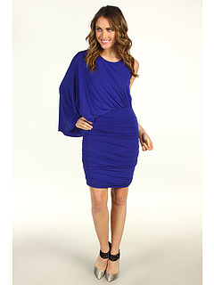 SALE! $134.99 - Save $133 on BCBGMAXAZRIA Draped One Shoulder Cocktail Dress (Royal Blue) Apparel - 49.63% OFF $268.00
