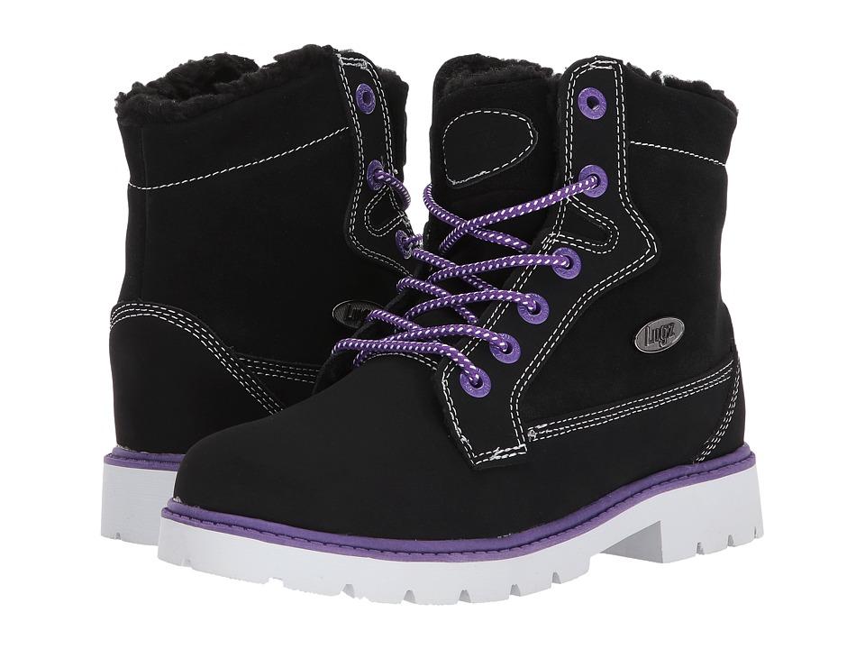 Lugz - Brigade Fold (Black/Purple/White) Women's Boots