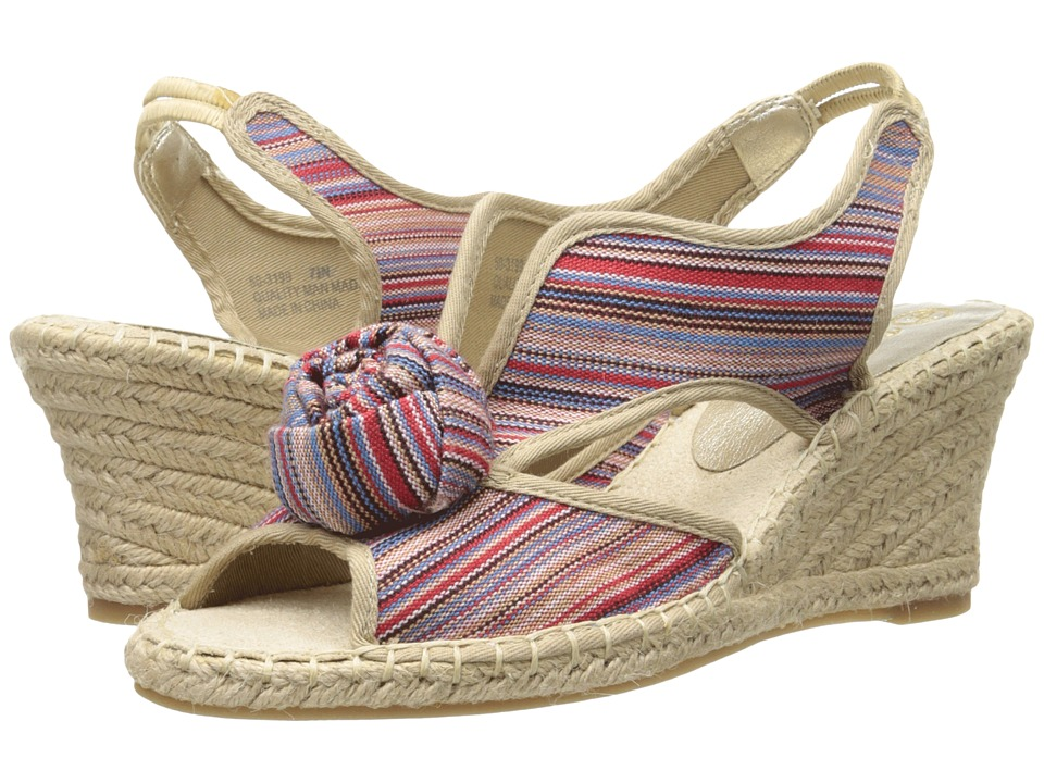 Bella-Vita - Judie (Multi Stripe) Women's Wedge Shoes