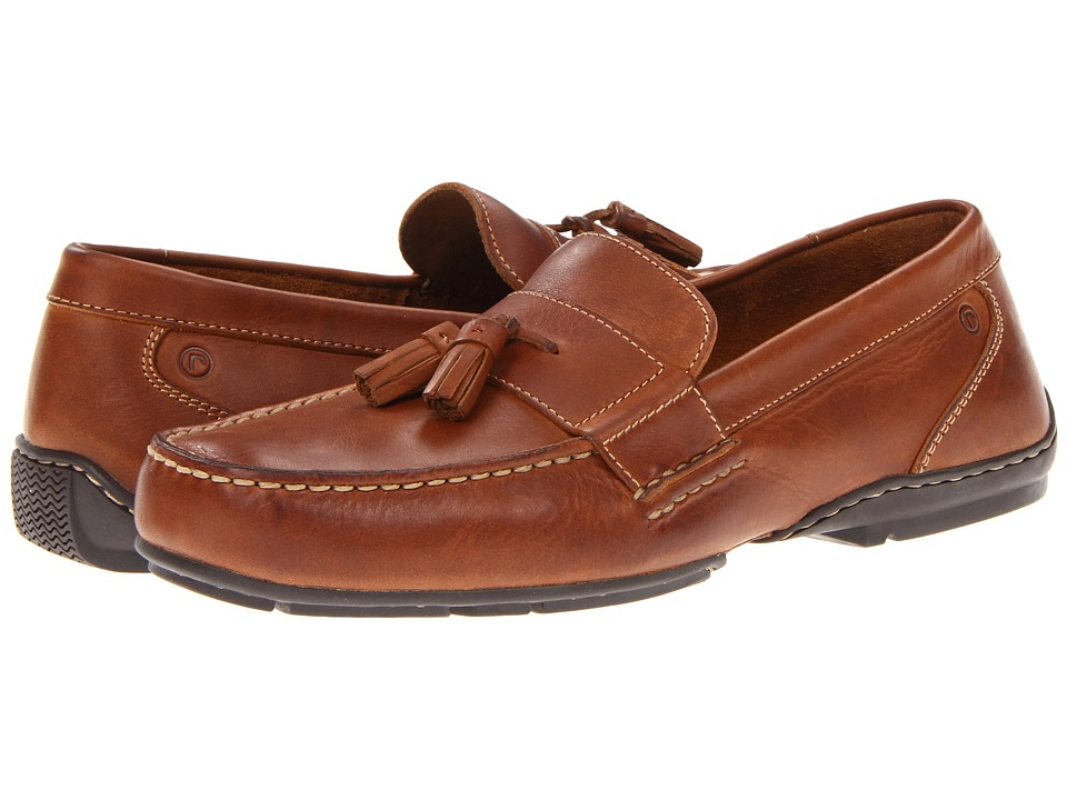 Rockport - Campson (Tan Leather) Men's Slip on Shoes
