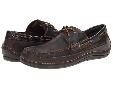 Rockport - Sebert (Cocoa Leather) Men's Lace Up Moc Toe Shoes