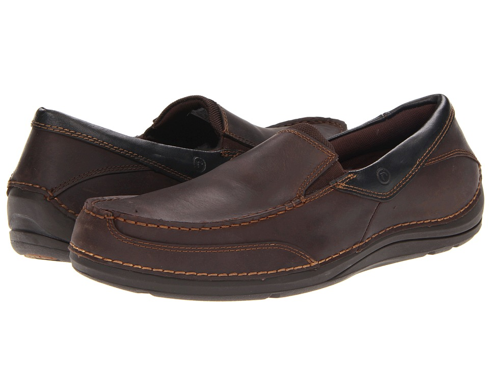 Rockport - Balabour (Cocoa Leather) Men's Slip on Shoes