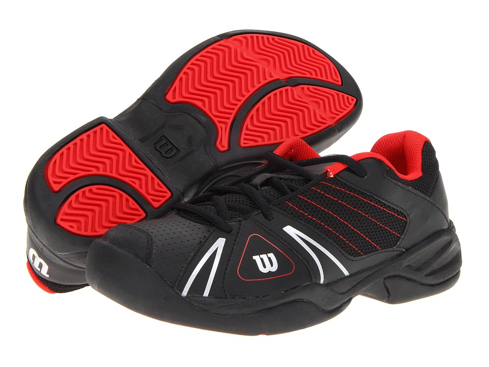 Wilson Kids - Open Junior (Little Kid/Big Kid) (Black Red) Kids Shoes