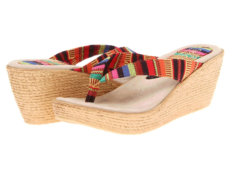 Sbicca - Andes (Red/Multi) Women's Wedge Shoes