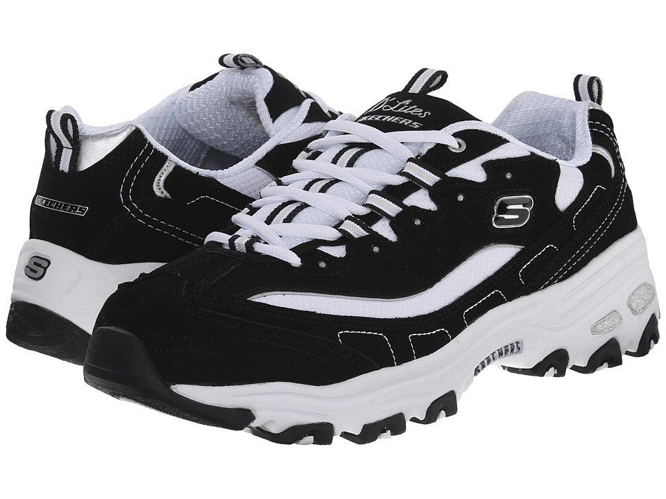 SKECHERS - Extreme (Black/White) Women's Lace up casual Shoes