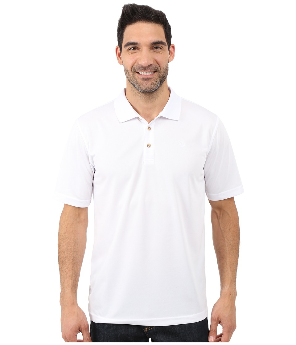 Ariat - Tek Polo (White) Men's Short Sleeve Pullover