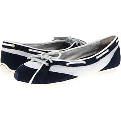 Etty Laced Boat Ballet (Dress Blue