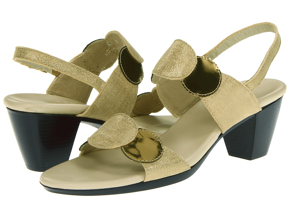 Munro - Solar (Linen Suede/Gold Mirror Kid) Women's Sandals