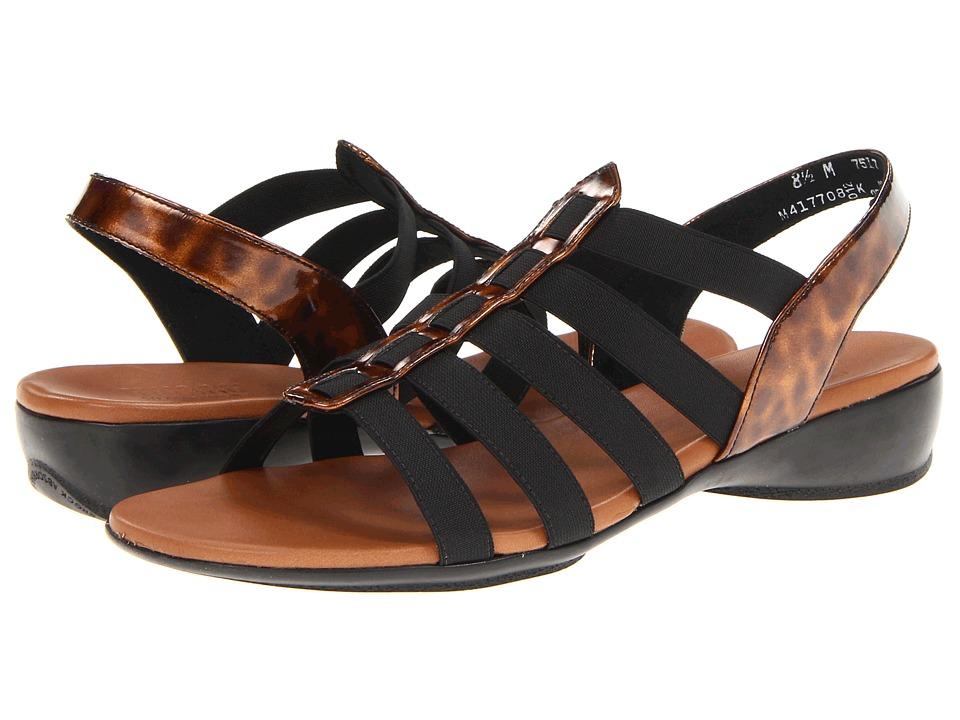 Munro American - Darian (Tortoise Shell/Black Stretch) Women's Sandals