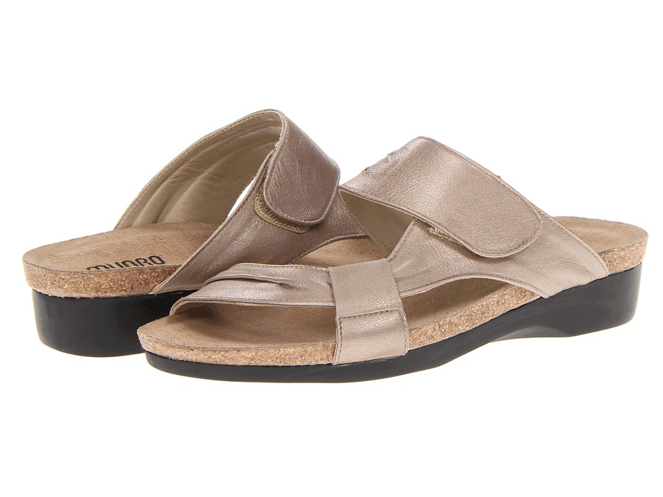 Munro American - Libra (Taupe Metallic Leather) Women's Sandals