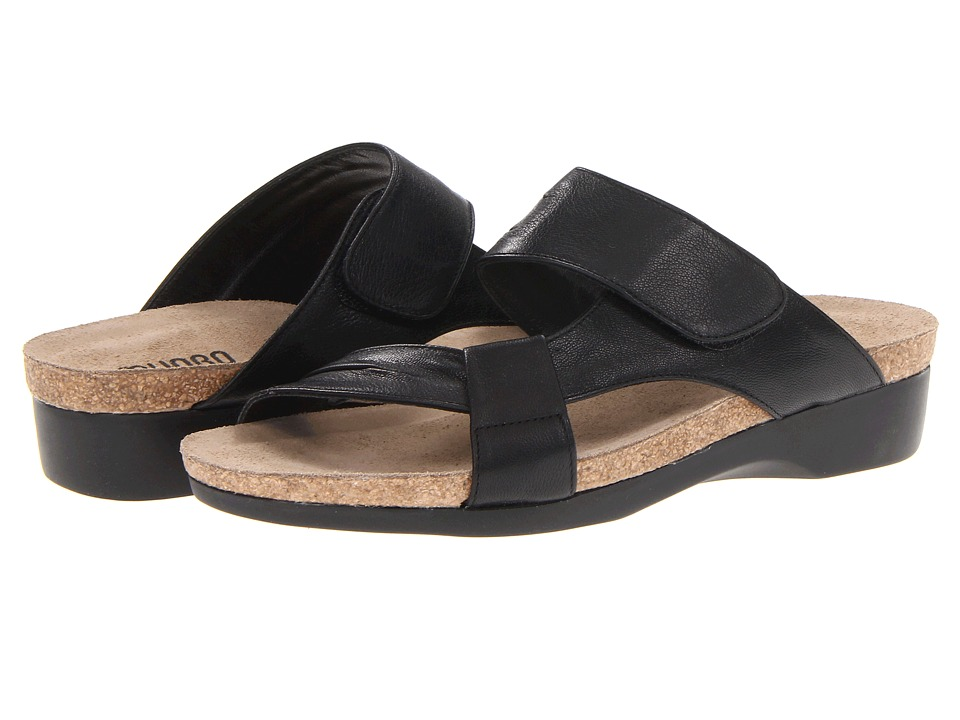 Munro American - Libra (Black Leather) Women's Sandals