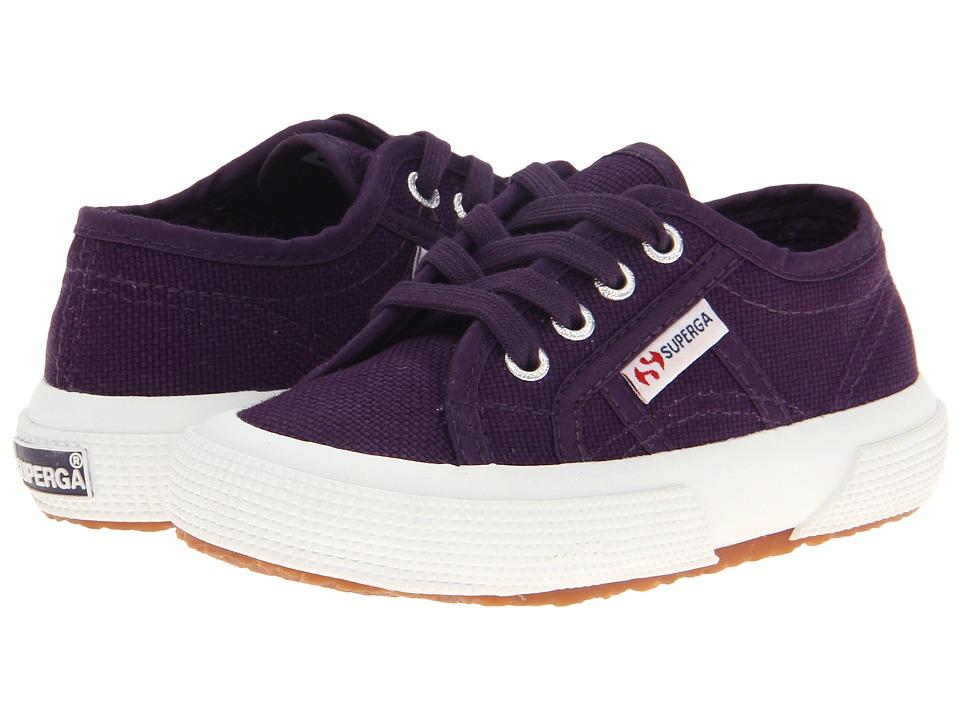 Superga Kids - 2750 JCOT Classic (Toddler/Little Kid) (Prune) Girls Shoes