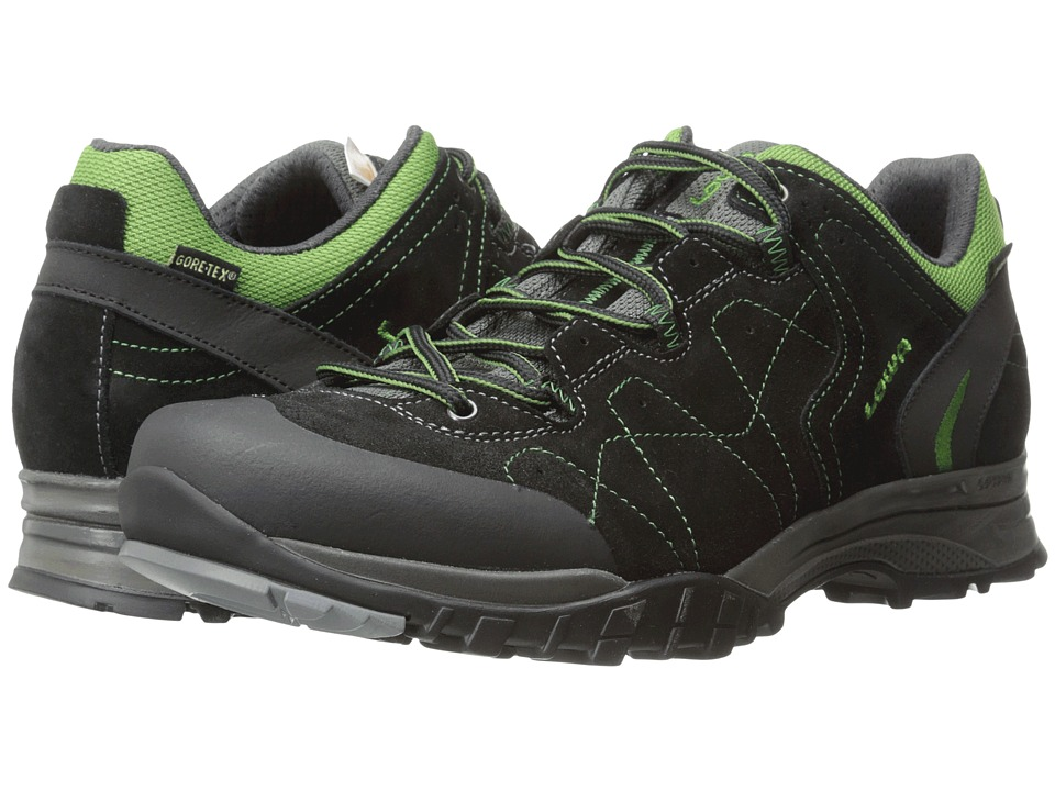 Lowa - Focus GTX Lo (Black/Green) Men's Hiking Boots