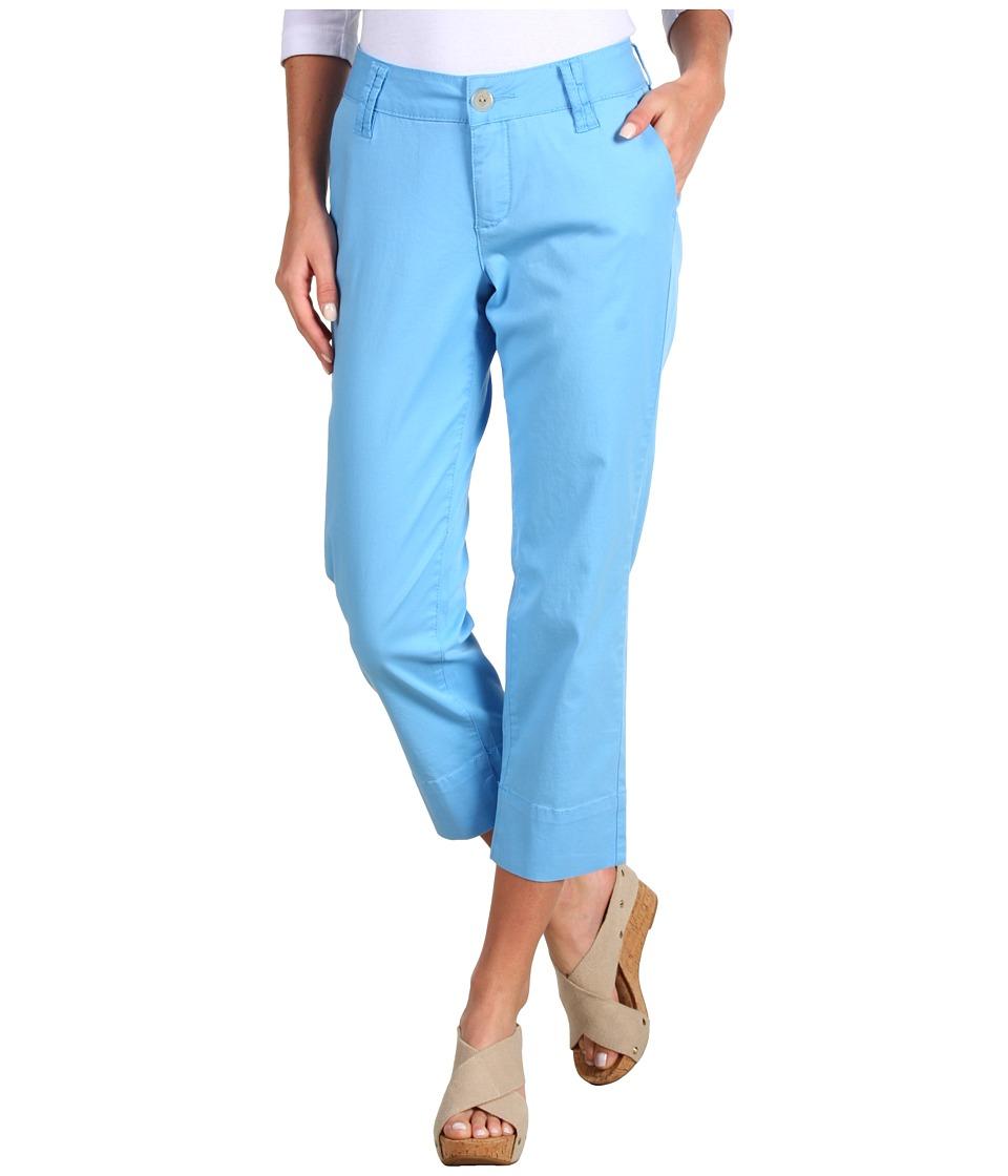 Jag Jeans - Maitland Slim Crop Fine Line Twill (Bay Water) Women's Capri