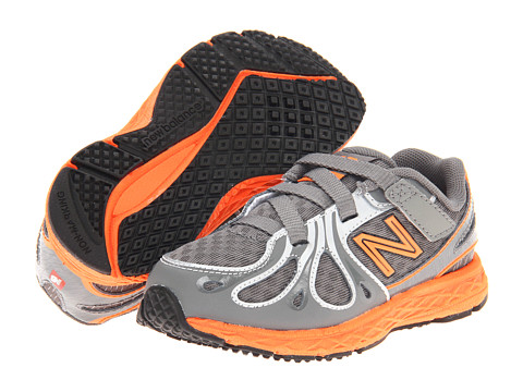 New Balance Kids - KV890v3 (Infant/Toddler) (Grey/Orange) Boys Shoes