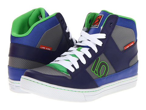 Five Ten - Lineking (Navy/Light Grey/Grass Green) Men's Skate Shoes