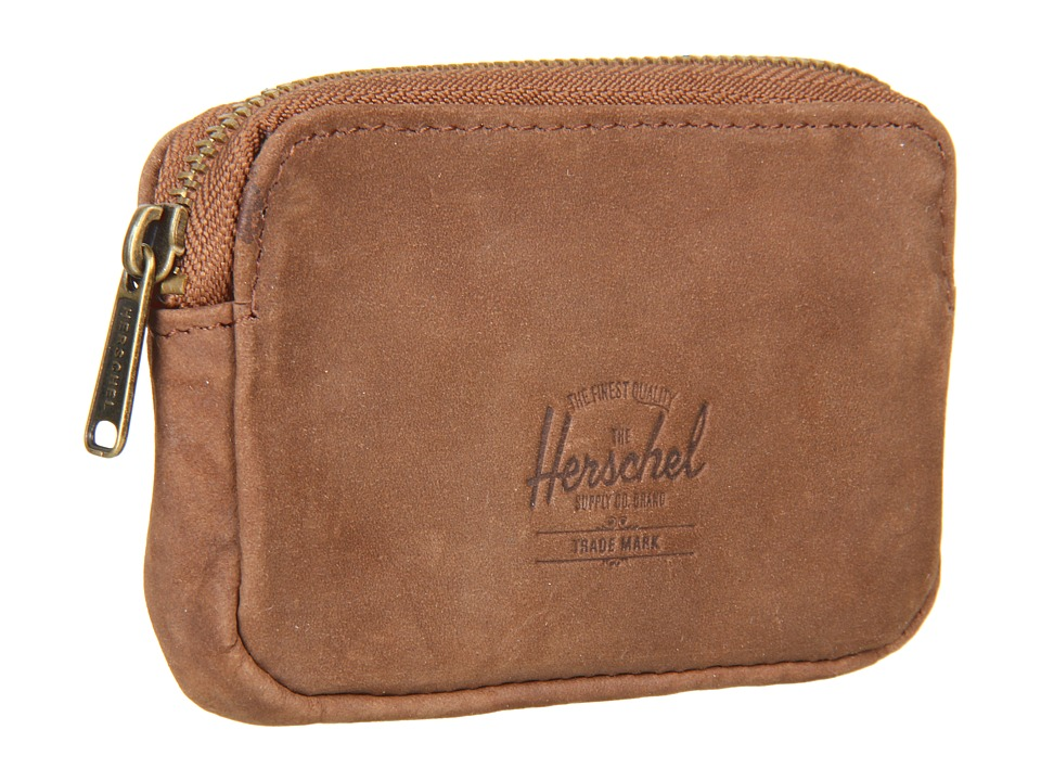 Herschel Supply Co. - Oxford Pouch (Brown Nubuck) Wallet Handbags