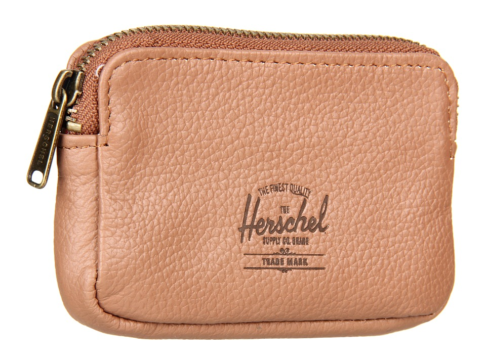 Herschel Supply Co. - Oxford Pouch (Tan Pebble Leather) Wallet Handbags