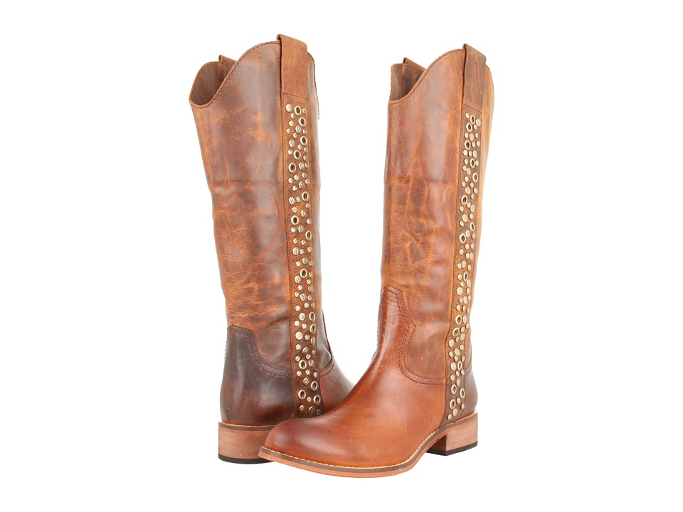 Lucchese - Avery Grommet Boot (Tan) Cowboy Boots