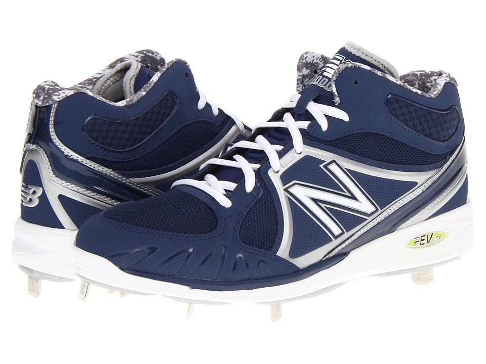 New Balance MB3000 Metal Mid-Cut Cleat Blue-White Mens Cleated Shoes