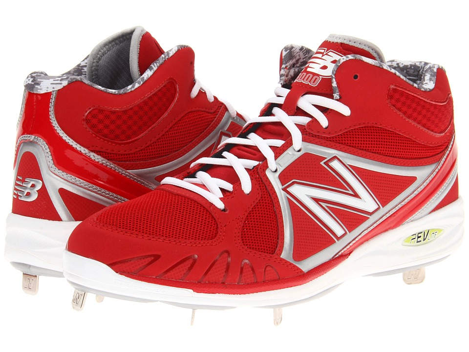 New Balance - MB3000 Metal Mid-Cut Cleat (Red/White) Men