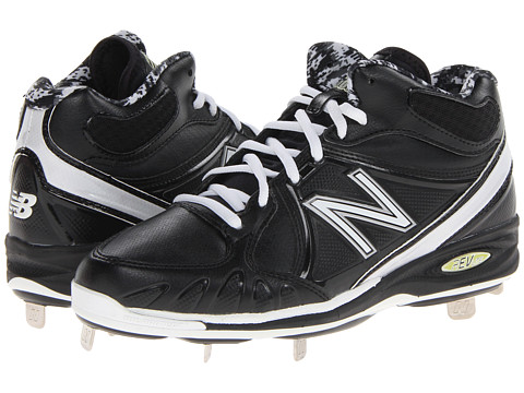 New Balance - MB3000 Metal Synthetic Mid-Cut Cleat (Black/White) Men's Cleated Shoes